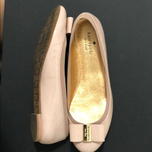 a93132afc kate spade Shoes - Kate spade gently used blush nude pink bow flats 8